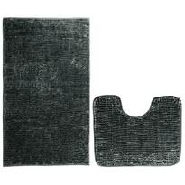 AmeliaHome Bati fürdőszobai kilépő szett, fekete, 2 db, 50 x 80 cm, 40 x 50 cm