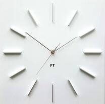 Future Time FT1010WH Square white Designové nástěnné hodiny, 40 cm
