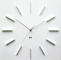 Future Time FT1010WH Square white Designové nástenné hodiny, 40 cm