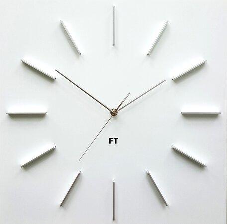 Future Time FT1010WH Square white Design falióra, 40 cm