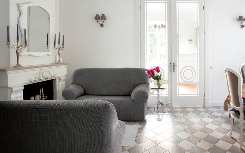 Cagliari multielasztikus kanapéhuzat szürke, 180 - 220 cm