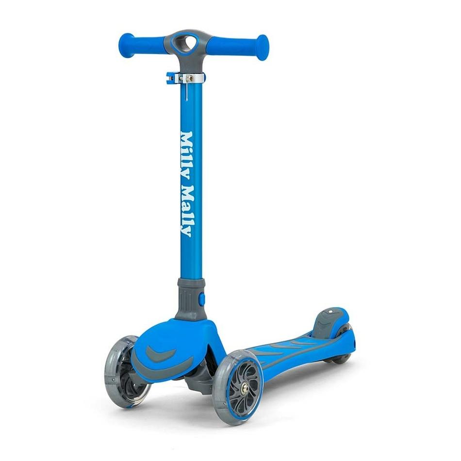 Milly Mally Detská kolobežka Scooter Boogie modrá, 80,6 x 59 x 25 cm
