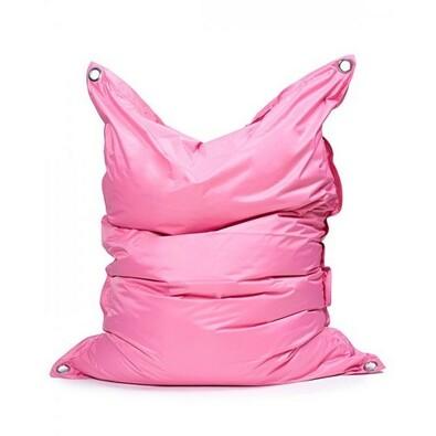 Sedací pytel s popruhy Pink 191 x 141 cm