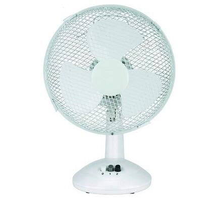 Otočný stolní ventilátor, bílá, pr. 23 cm
