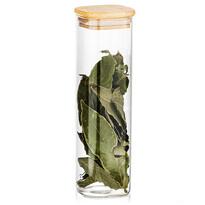 Recipient de sticlă 4Home pentru alimente cu  capac Bamboo, 530 ml