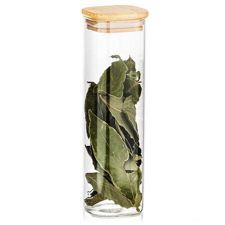 4Home Bamboo üveg élelmiszer tároló bambusz fedéllel, 530 ml