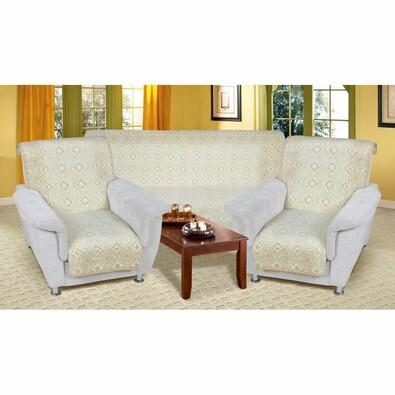 Přehozy na sedací soupravu Karmela Plus Kosočtverce, 150 x 200 cm, 2 ks 65 x 150 cm
