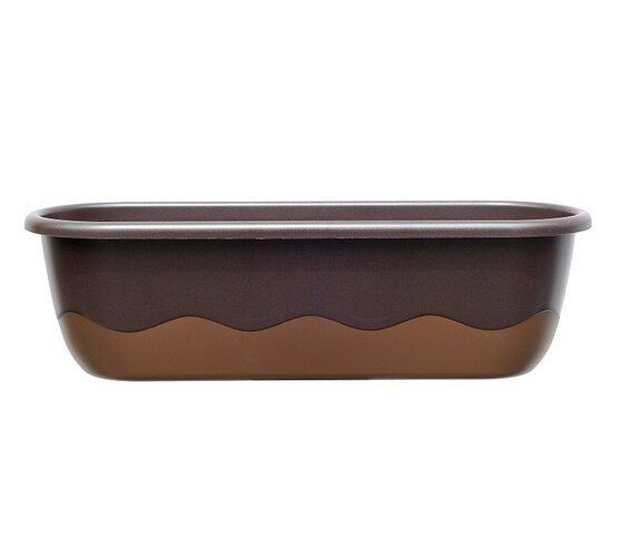 Samozavlažovací truhlík Mareta, bronzová+ hnědá, 80 cm, Plastia
