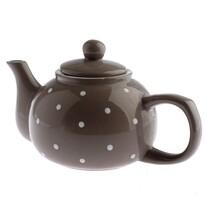 Keramická kanvička na čaj Dots 1 l, hnedá