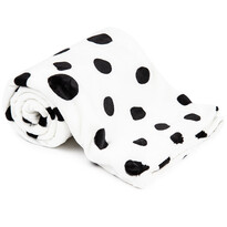 4Home koc Soft Dreams Kropki Dalmatyńczyk czarno-biały, 150 x 200 cm
