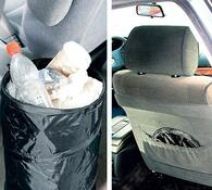 Odpadkový koš do auta, černá, pr. 25 x 32 cm
