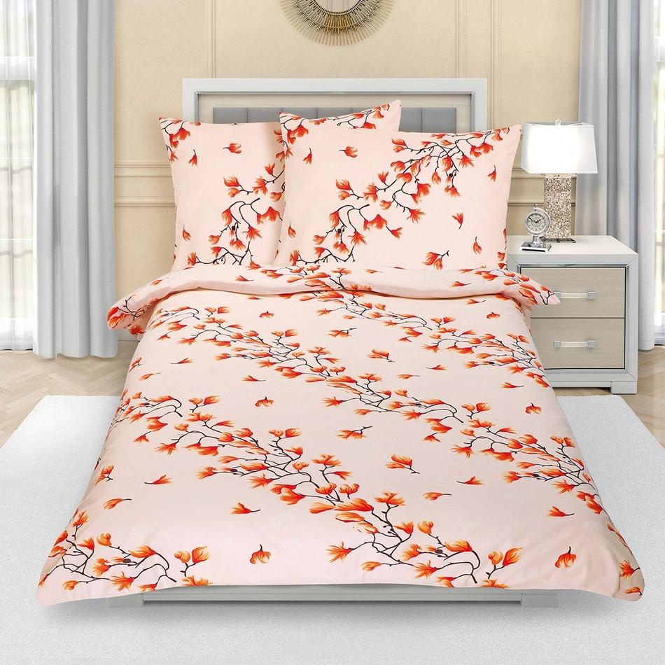 Bellatex Krepové obliečky Krík jesenný, 140 x 220 cm, 70 x 90 cm