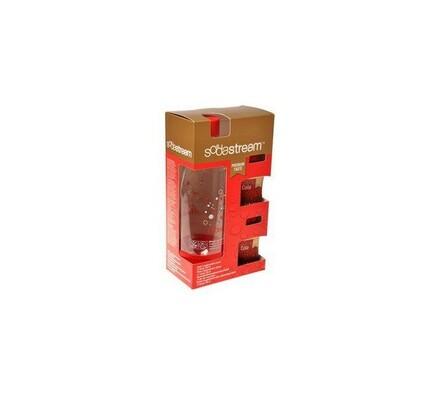 Sodastream láhev Cola, 0,9 l + 2 sirupy Cola Premi, červená