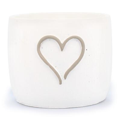 Betonový obal na květináč srdce pr. 18,5 cm