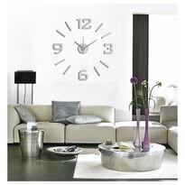 StarDeco Zegar ścienny matowy srebrny, śr. 60 cm