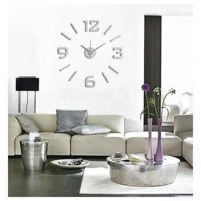 StarDeco Nástěnné hodiny matná stříbrná , pr. 60 cm