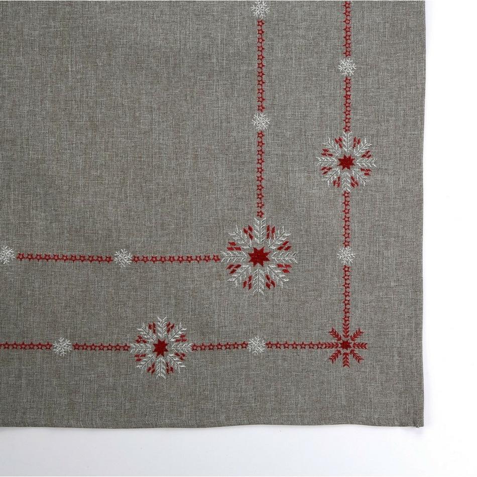 Altom Vánoční ubrus Snow flakes šedá, 80 x 80 cm