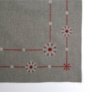 Altom Snow flakes karácsonyi abrosz, szürke, 80 x 80 cm