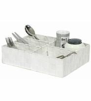 Compactor Organizator pentru lenjerie și accesorii TEX 32 x 25 x 8 cm, alb