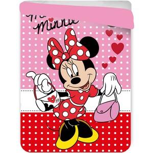 Jerry Fabrics Dětská prošívaná přikrývka Minnie Mouse, 180 x 260 cm