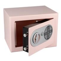 Ocelový sejf s elektronickým zámkem, růžová