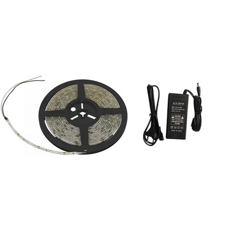 Solight LED svetelný pás, 3m, sada s 12V adaptérem, 14,4W/m, IP65, studená biela, WM52
