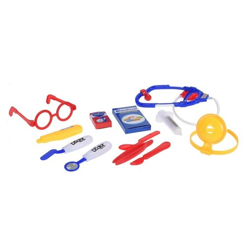 Dětský hrací set Doctor modrá, 12 ks