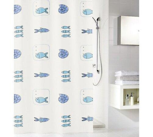 Koupeľňový záves Meusch, modrá, 180 x 200 cm
