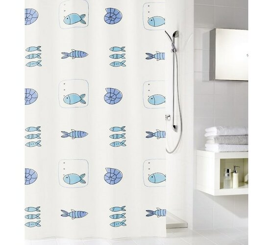 Meusch Koupeľňový záves Waterworld, viacfarebný, 180 x 200 cm