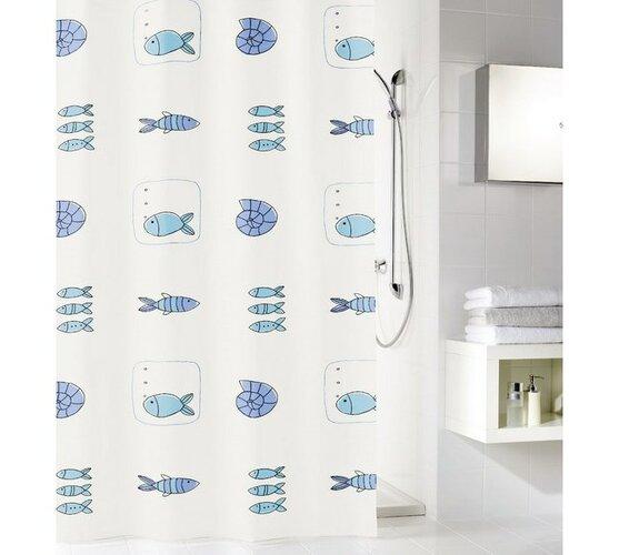 Meusch Koupelnový závěs Waterworld, vícebarevný, 180 x 200 cm