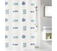Koupelnový závěs Waterworld Meusch, modrá, 180 x 200 cm
