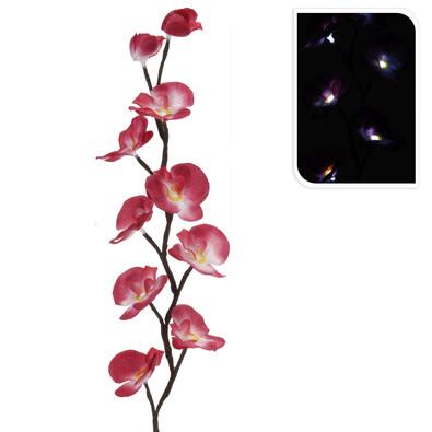 Umelá kvetina orchida LED