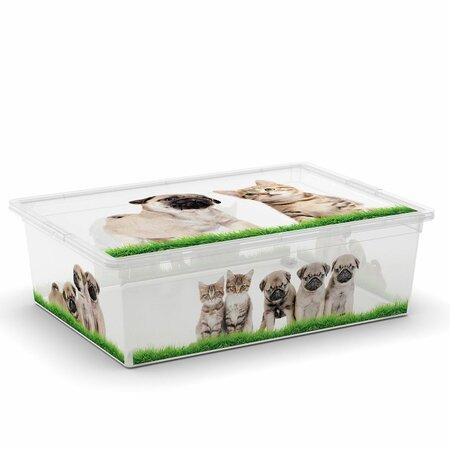 KIS Dekoračný úložný box C-Box Puppy & Kitten L, 27 l