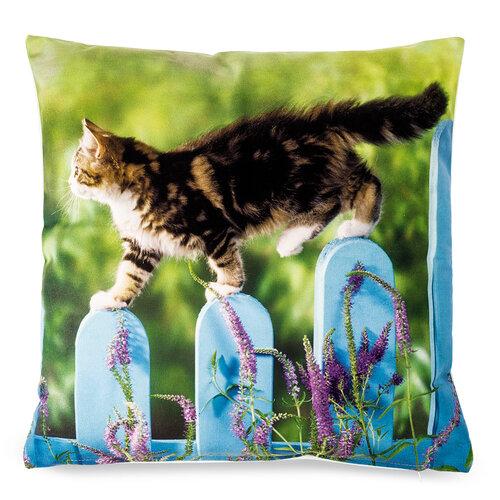 Povlak na polštářek Kočka na plotě, 40 x 40 cm