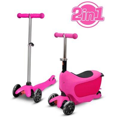 Buddy Toys BPC 4312 Koloběžka Taman 2v1, růžová