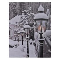 Snowy Lamps LED kép vásznon, 40 x 30 cm