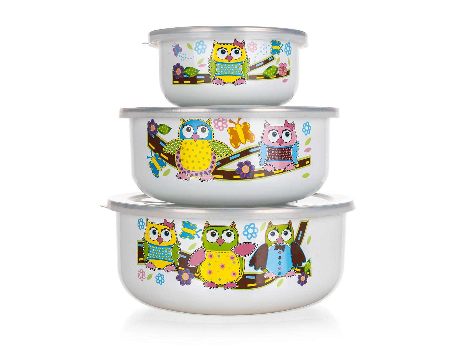 Banquet OWLS Sada smaltovaných misek 6 ks 1320076OWL