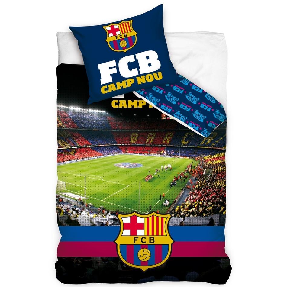 Tip Trade Bavlnené obliečky FC Barcelona Štadión Nou Camp, 140 x 200 cm, 70 x 80 cm