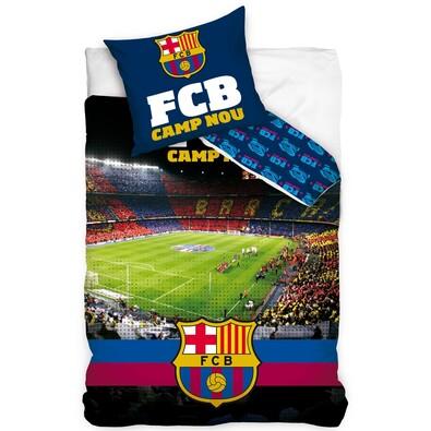 Bavlněné povlečení FC Barcelona Stadion Nou Camp, 140 x 200 cm, 70 x 80 cm