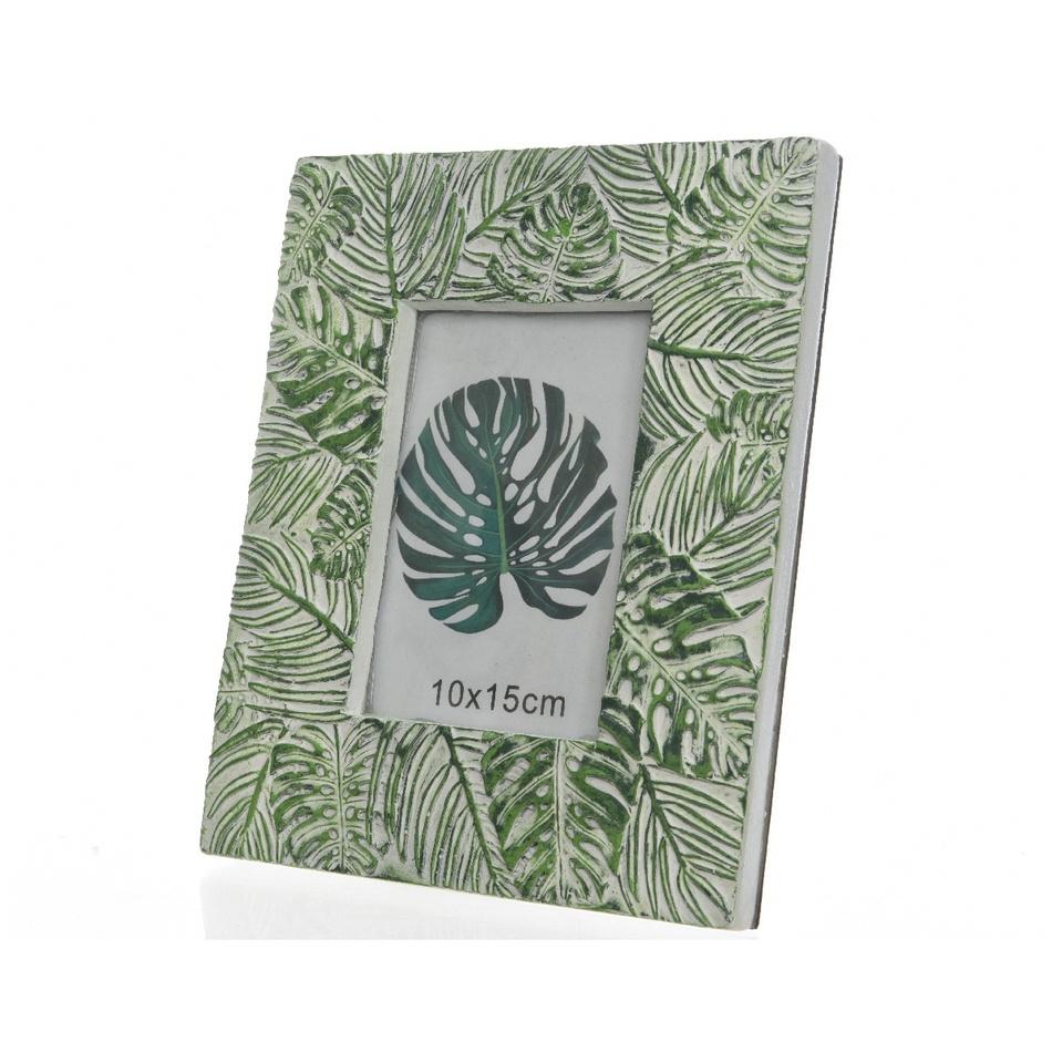Fotorámeček Leaves zelená, 23,5 cm