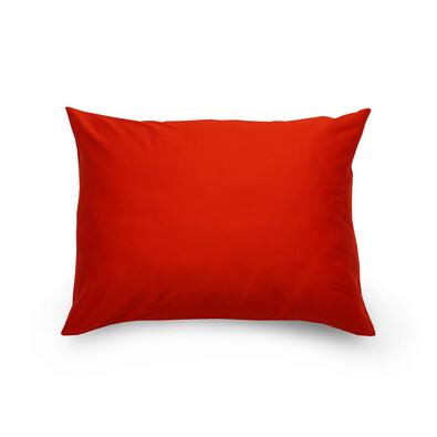 Povlak na polštář satén červená / bílá, 70 x 90 cm