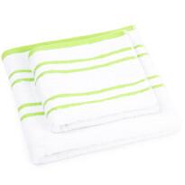 """Zestaw ręczników """"Snow"""" zielony, 50 x 100cm, 70 x 140cm"""