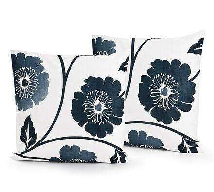 Polštářky smetanové s květy, 2 kusy