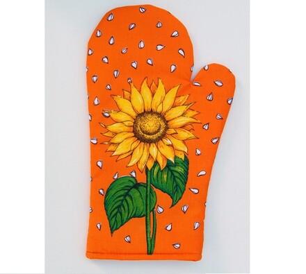 Kuchyňská chňapka Slunečnice, oranžová