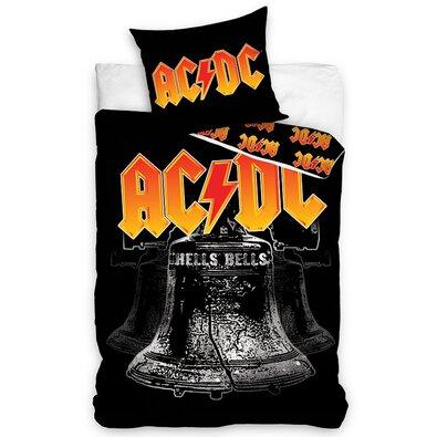 Bavlněné povlečení AC/DC Hells Bells, 140 x 200 cm, 70 x 90 cm