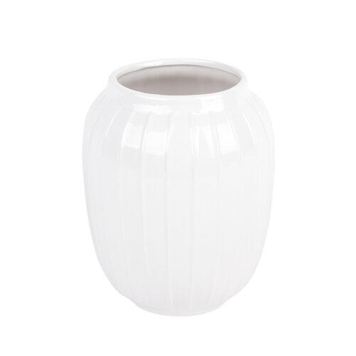 Elegantní váza Lucy bílá, 19 cm