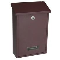 Poštovní ocelová schránka Vigo, hnědá