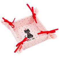 Koszyk tekstylny Kot, 34 x 34 cm