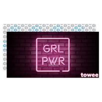 Towee Ręcznik szybkoschnący GIRL PWR, 80 x 160 cm