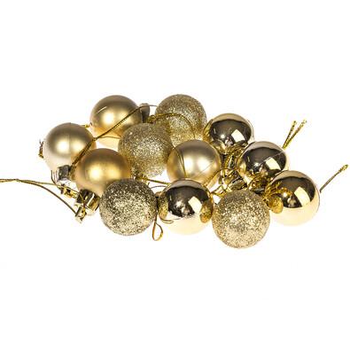 Karácsonyi gömbdísz 12 db, arany